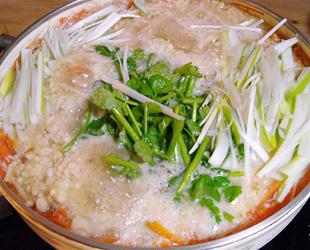冬野菜の千切り鍋