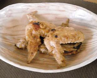 鶏手羽肉のリンゴ照り焼き