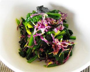 ほうれん草と菊のサラダ